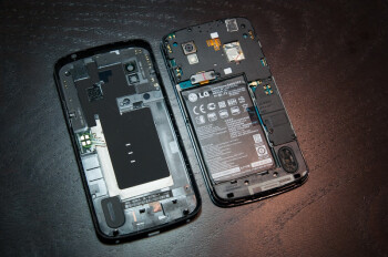 Behind the back plate of the LG Nexus 4