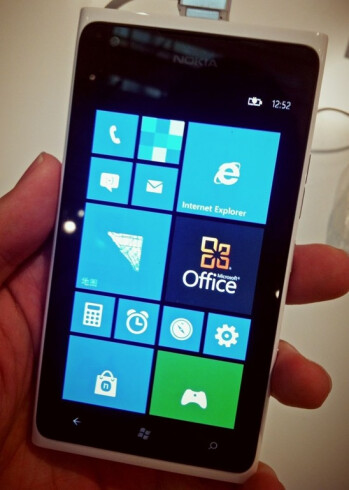 Nokia Lumia 900 running Windows Phone 7.8