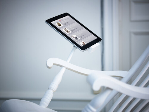 iRock rocking chair with iPad charging dock