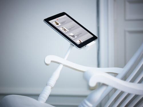 iRock rocking chair with iPad charging dock