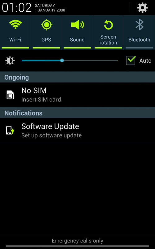 Samsung Galaxy Note Jelly Bean screenshots