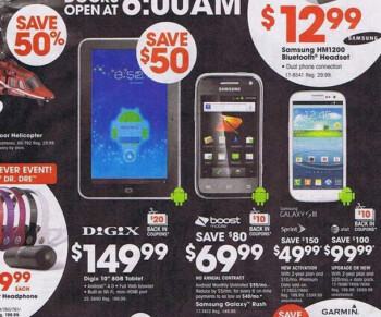 Black Friday deals from Best Buy leak: Sprint GS III for $50, AT&T One X for free