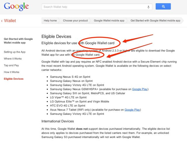 Google's Support Page hints at a physical Google Wallet card - Google Wallet to have physical card option says Support Page