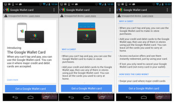 Leaked screenshots confirm the existence of a physical Google Wallet card