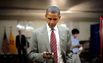 President Barack Obama and his once trusty BlackBerry