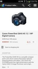 Screenshots from Google Shopper version 3.0