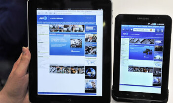 An Apple iPad and the Samsung Galaxy Tab