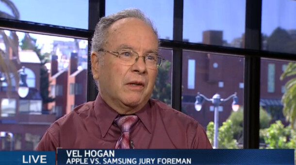Jury foreman Velvin Hogan - Judge Koh to hear Samsung's complaint about the alleged bias of the jury foreman