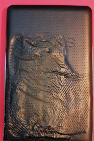 Is Hans Solo stuck in carbonite or has a Google Nexus 7 melted? - The Google Nexus 7 has a meltdown