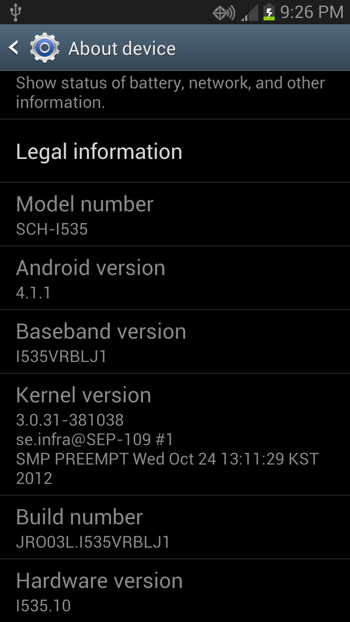 A leaked version of Android 4.1.1 for Verizon's SGS3 - Possible final build of Android 4.1.1 leaks for Verizon's Samsung Galaxy S III
