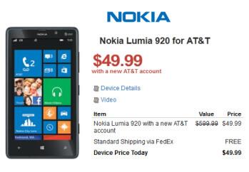 Walmart has deals on the Nokia Lumia 920 and Nokia Lumia 820