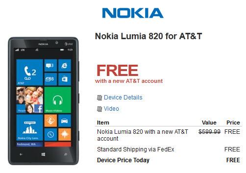 Walmart has deals on the Nokia Lumia 920 and Nokia Lumia 820 - Walmart offers $49.99 Nokia Lumia 920 and free Nokia Lumia 820