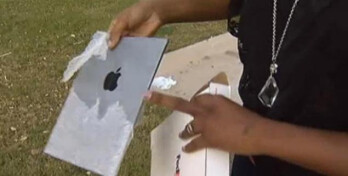 The phony Apple iPad might have fooled some people with the Apple logo on the back