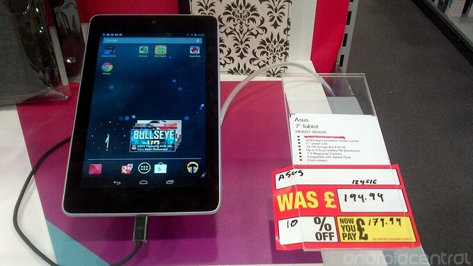 Comet's discount is part of a liquidation sale - 32GB Google Nexus 7 available for £179.99 from U.K.'s high street retailers