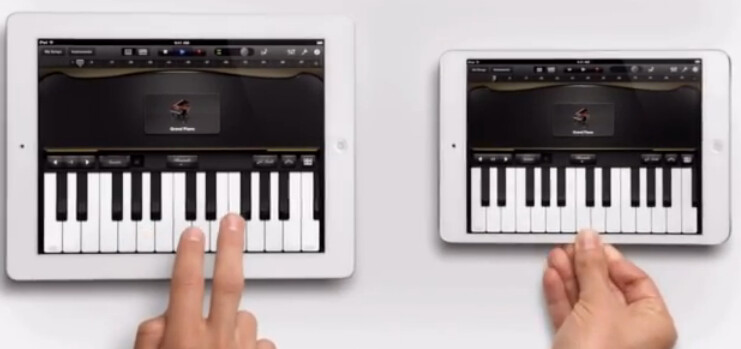 Scene from the Apple iPad mini ad titled Piano - Two new Apple iPad mini ads ready to go into rotation