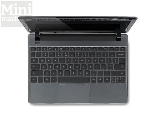 Full size keyboard and click-touch-pad