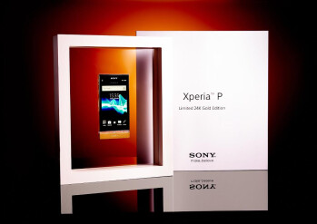 Win a 24K gold Sony Xperia P, a limited edition no matter how you slice it