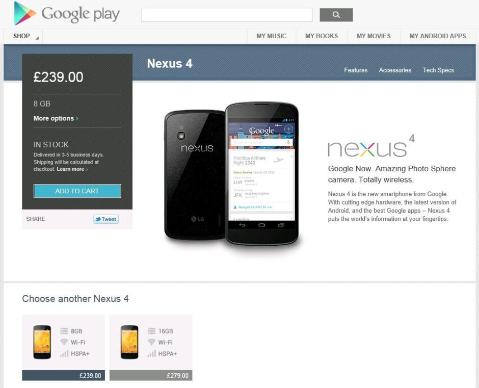 Nexus 4, 10 have now arrived on Google Play Store: best value for the money
