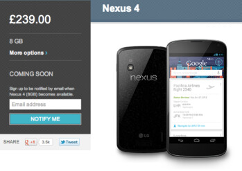 That was quick: Nexus 4 sells out in U.K. Play Store in 30 minutes