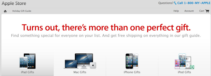 Apple publishes 2012 Holiday Gift Guide