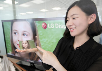 LG demonstrates its 5-inch, 1920 x 1080 pixel display