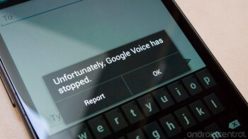 Google Voice is having problems on Android 4.2