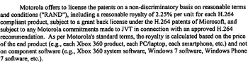 Motorola's FRAND patent demands