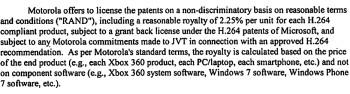 Motorola's FRAND patent demands