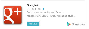 Users can now install Android apps from Google+ Stream
