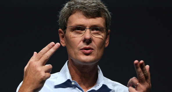 Thorsten Heins is keeping his fingers crossed for the success of BB10 - RIM CEO Heins: One minute sales pitch is all that is needed to snag BlackBerry 10 buyers
