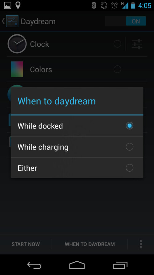 "Feature: Android 4.2 ""Daydream"" mode"