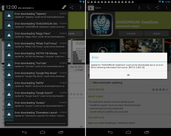 How to fix Nexus 7 app update errors after installing Android 4.2