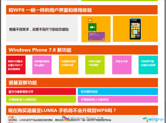 This leaked slide revealed some of the new features of Windows Phone 7.8 - Leaked Nokia presentation slide reveals Windows Phone 7.8 features