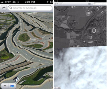 Examples of Apple Maps failure. Images courtesy of Gizmodo