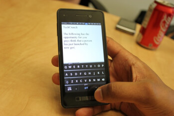The BlackBerry 10 virtual QWERTY on display