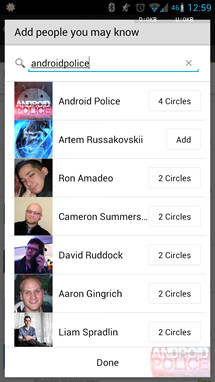 Adding friends to your Google+ circles can change the apps recommended to you