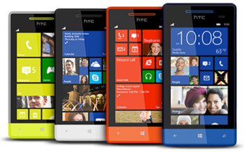 The HTC 8S is available in four colors