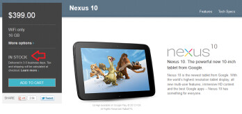 The Google Nexus 10 is back in stock in the U.S.