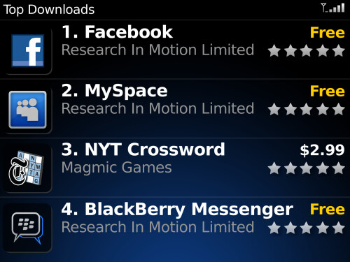 BlackBerry App World - Heins: Size doesn't matter, of app stores that is