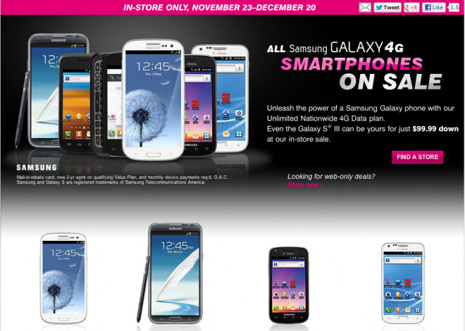 T-Mobile's sale now runs through December 20th - T-Mobile extends its sale on Samsung Galaxy devices for qualified Value plans