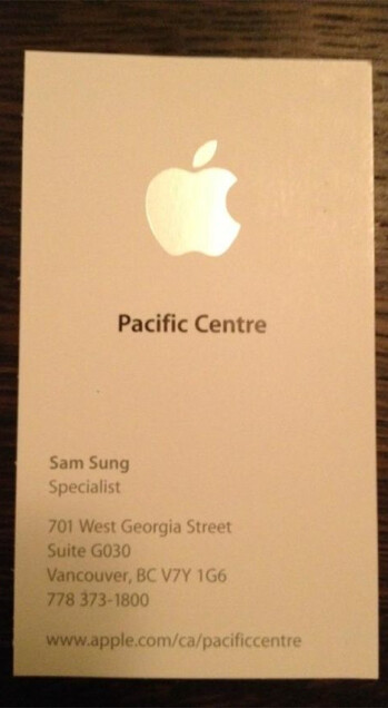 Does Sam Sung work for Apple?