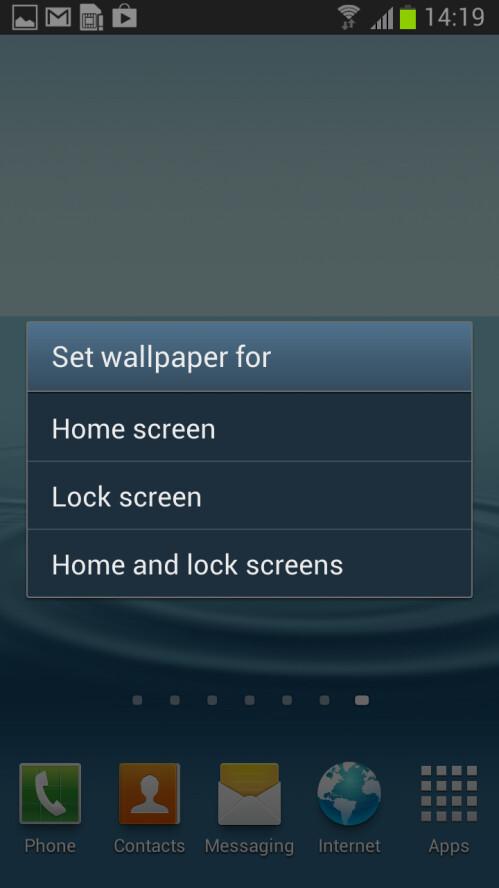 Lockscreen wallpaper - Samsung TouchWiz, Sony Timescape, LG Optimus UI, HTC Sense