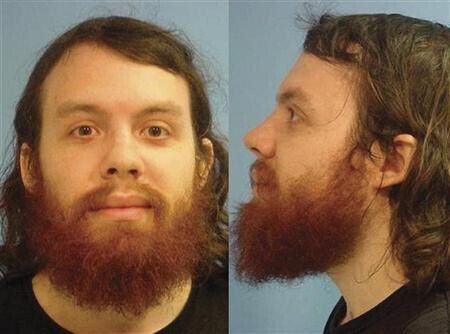 Mug shot of defendant Andrew Auernheimer - Hacker convicted by court of stealing the personal data of 120,000 AT&T Apple iPad users