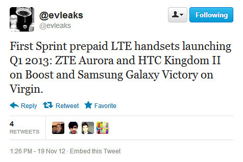 Virgin and Boost Mobile may release pre-paid 4G LTE smartphones in early 2013