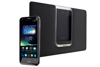 The Asus Padfone 2 in black