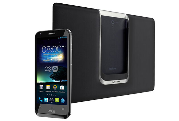The Asus Padfone 2 in black - Asus Padfone 2 pictured in white