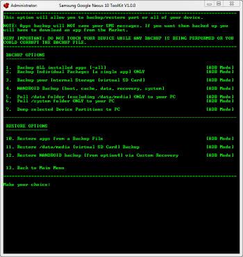 Google Nexus 10 ToolKit released, root and bootloader unlock made easy