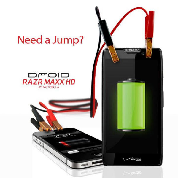 Motorola takes a shot at the battery life of the Apple iPhone 4S - Motorola DROID RAZR MAXX HD beats out top names in battery life test