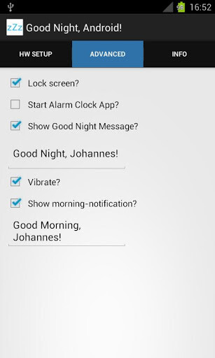 Save your phone's battery with Good Night, Android! - a radio switch automation app