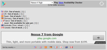 Check the status of that Google Nexus 4 you want